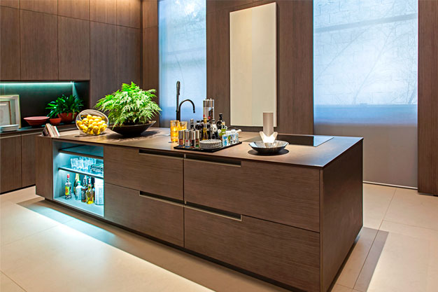 Cozinha monocromática são uma grande tendência para os próximos anos.