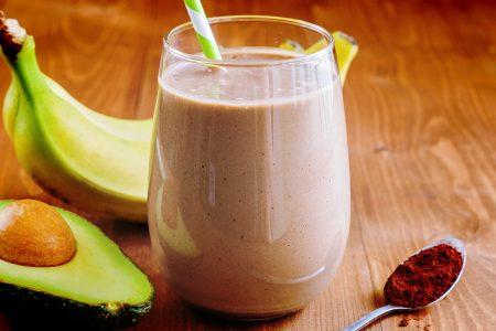 Vitamina de Banana, Abacate e Chocolate