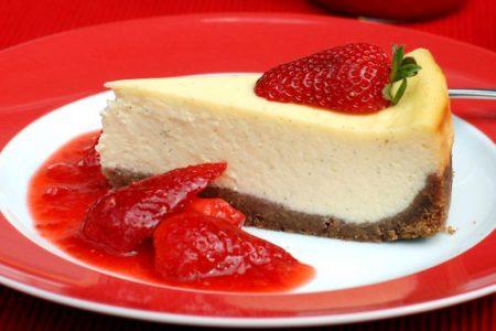 Cheesecake de Baunilha e Morango