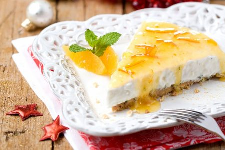 Cheesecake com Calda de Laranja