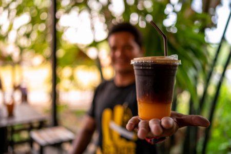 Café Gelado com Laranja